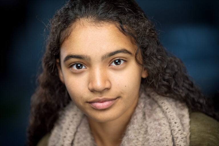 headshot portrait actor close up closeup hair young female